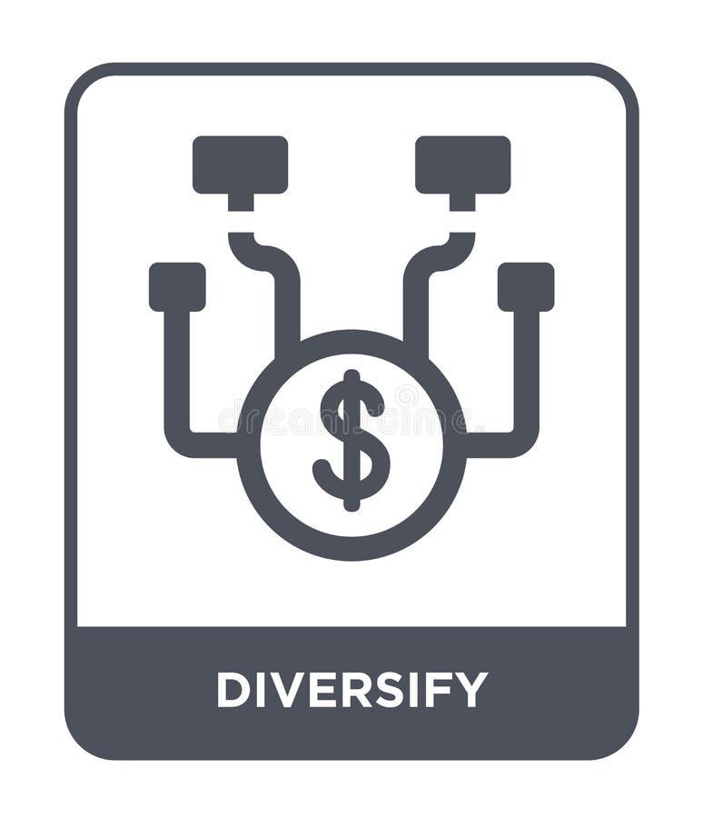 diversifiera symbolen i moderiktig designstil diversifiera symbolen som isoleras på vit bakgrund diversifiera den enkla och moder vektor illustrationer