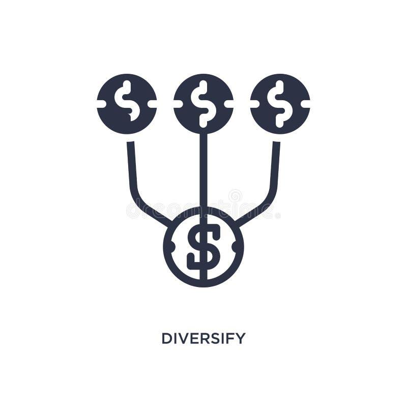 diversifiera symbolen på vit bakgrund Enkel beståndsdelillustration från att marknadsföra begrepp vektor illustrationer