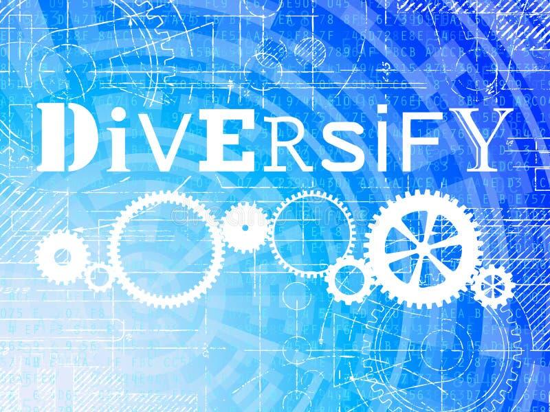 Diversifiera tekniskt avancerad bakgrund royaltyfri illustrationer