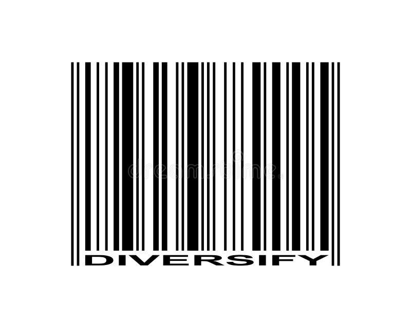 Diversifique el código de barras ilustración del vector