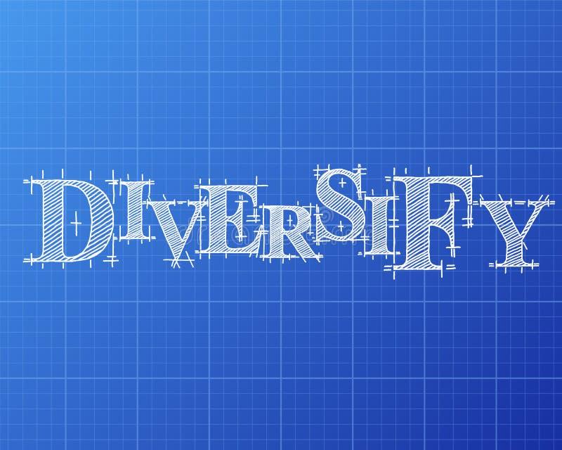 Diversifique el modelo de la palabra ilustración del vector