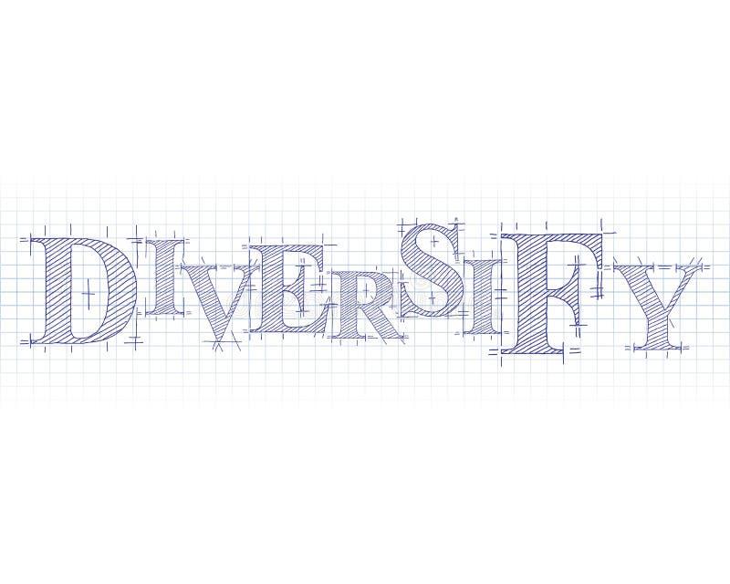 Diversifique la palabra técnica libre illustration