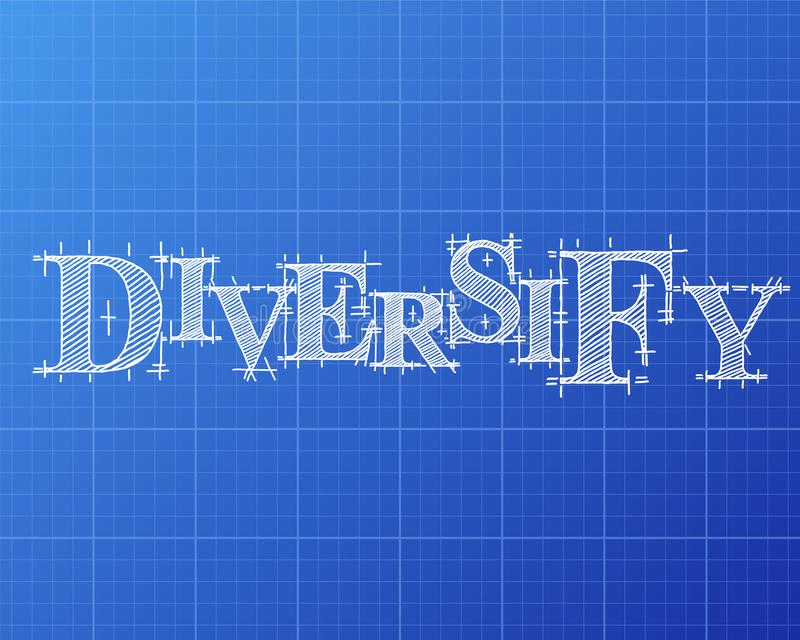 Diversify word blueprint stock vector illustration of drawing diversify text hand drawn on blueprint background malvernweather Image collections
