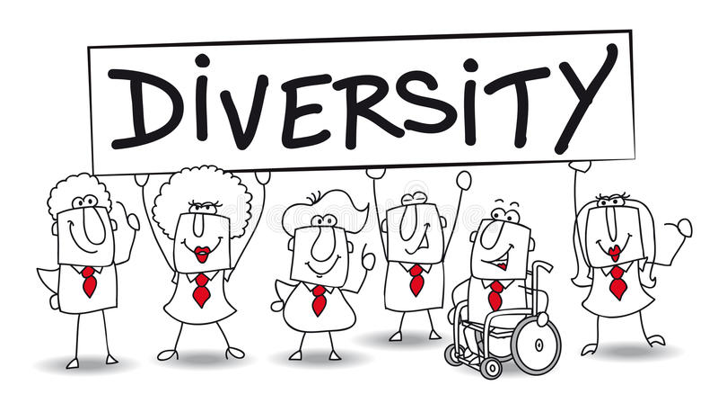 diversità illustrazione vettoriale
