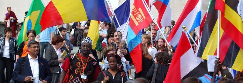 Diversità (bandiera) immagini stock