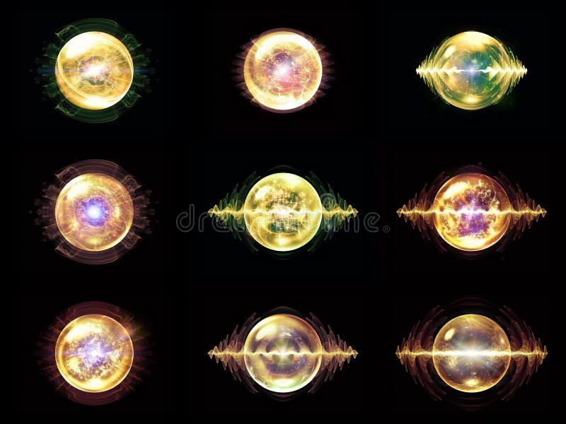 Diversità della particella di Wave illustrazione vettoriale
