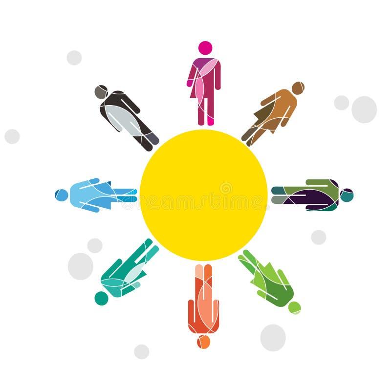 Diversità umana Sun illustrazione di stock