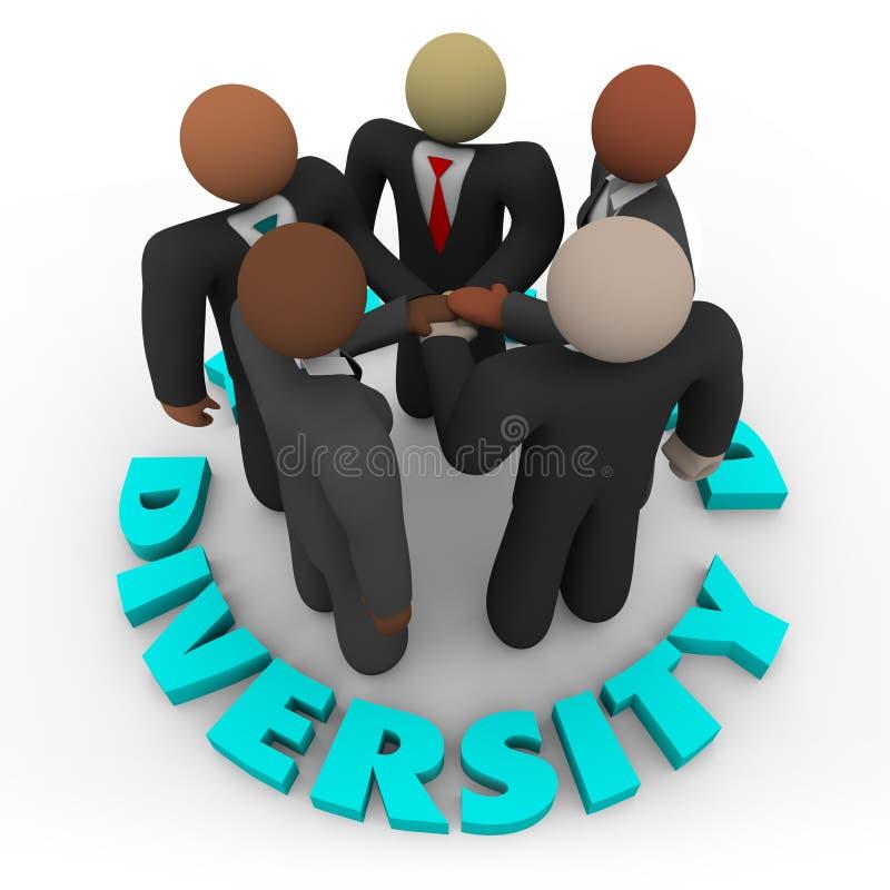 Diversité - équipe d'affaires des hommes et des femmes illustration de vecteur
