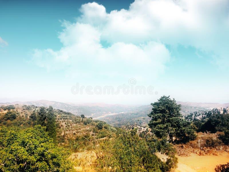 Diversité naturelle sur l'île de Crète photos libres de droits