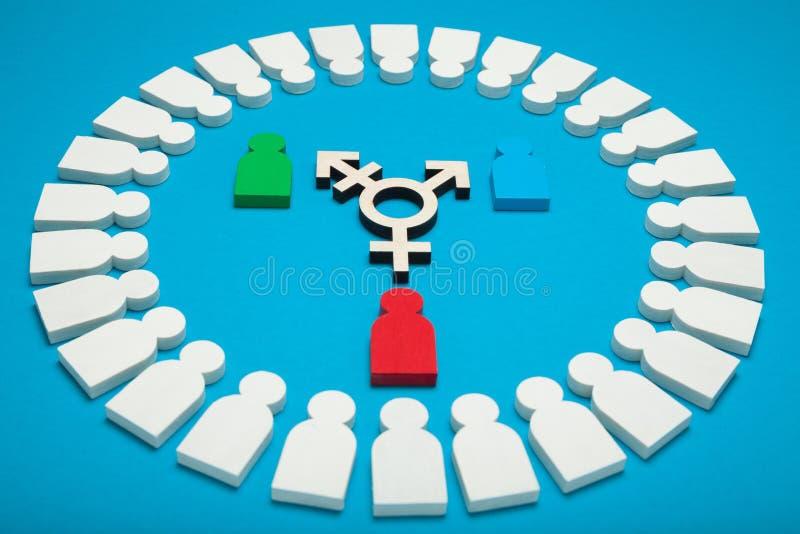 Diversit? de transsexuel, activisme d'intersex Concept de bisexualit? image stock