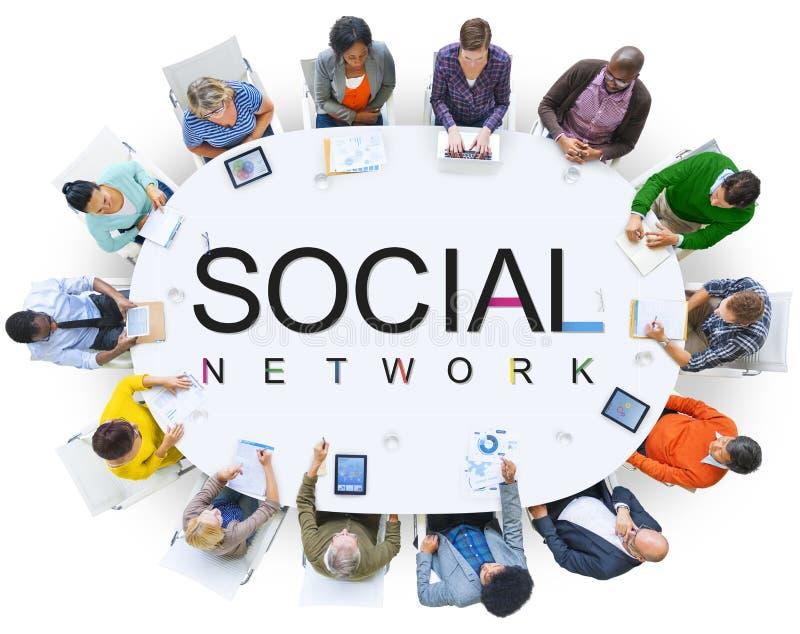 Diversiteitsgroep de Steunconcept van het Bedrijfsmensengroepswerk royalty-vrije stock afbeelding