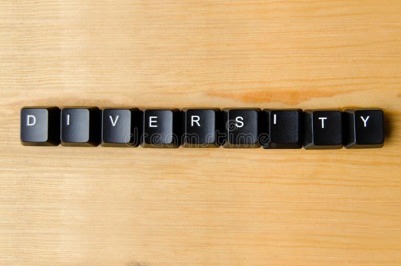 Diversiteitswoord stock afbeeldingen