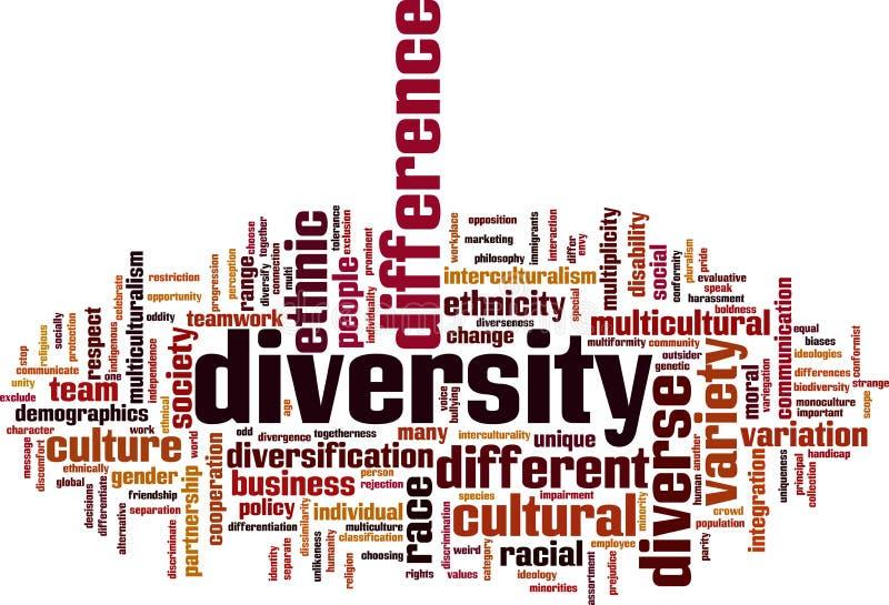 Diversiteitsword Wolk royalty-vrije illustratie