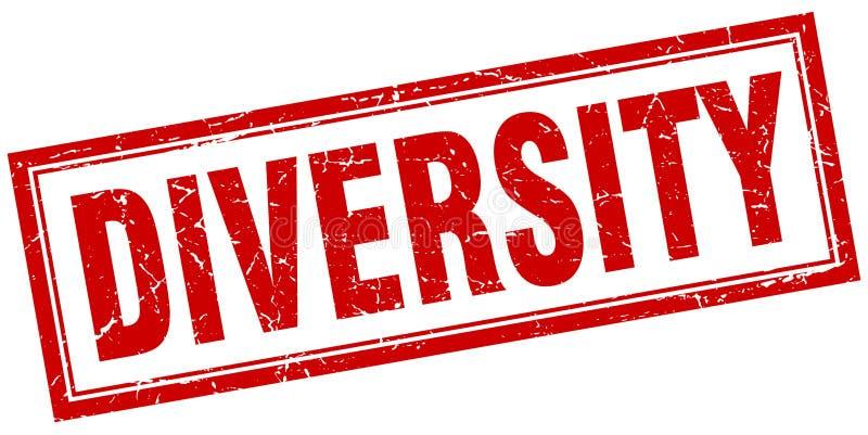 Diversiteitszegel royalty-vrije illustratie