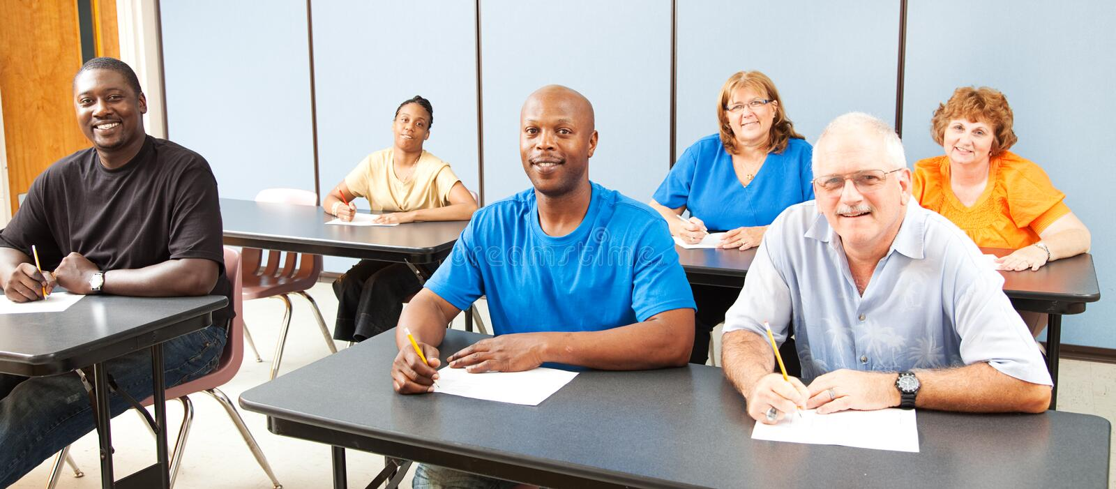 Diversity in Adult Education - Banner stock photos