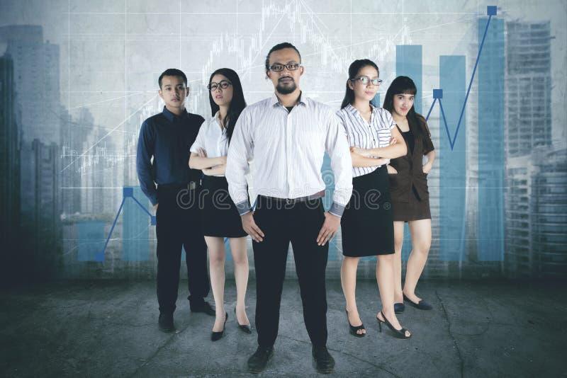 Diversity business people looks confident stock photos