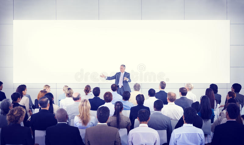Diversity Business People Seminar Presentation Team Concept stock image