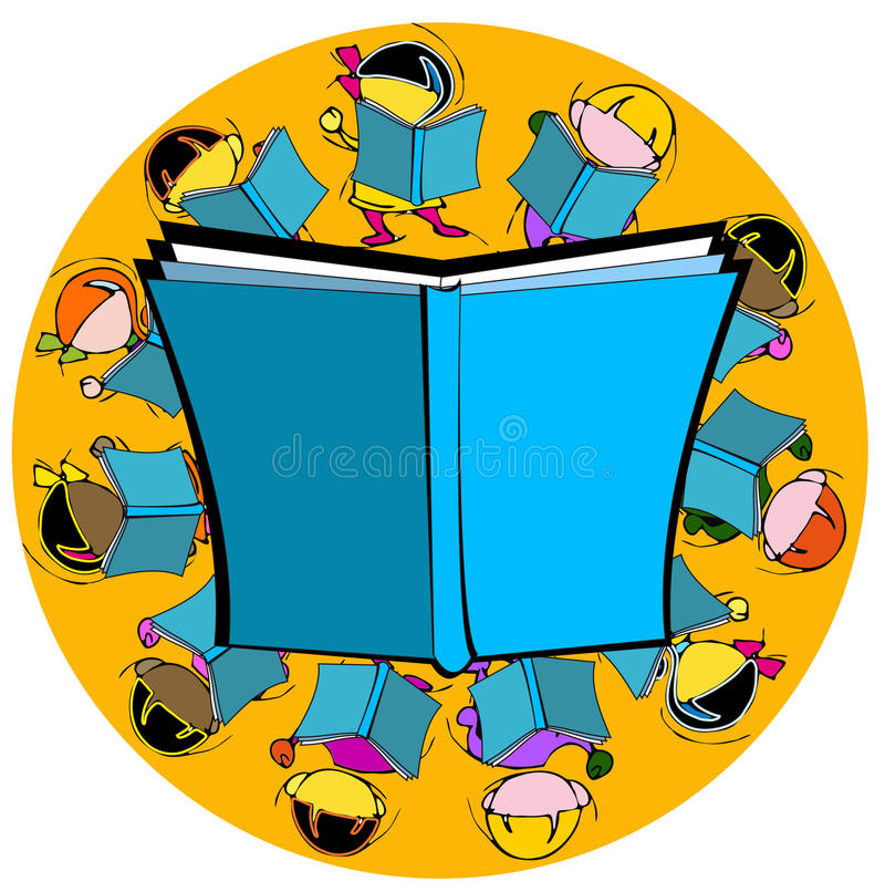 diversity book and children for school education cartoon stock rh dreamstime com Diversity Quotes School Clip Art Diversity