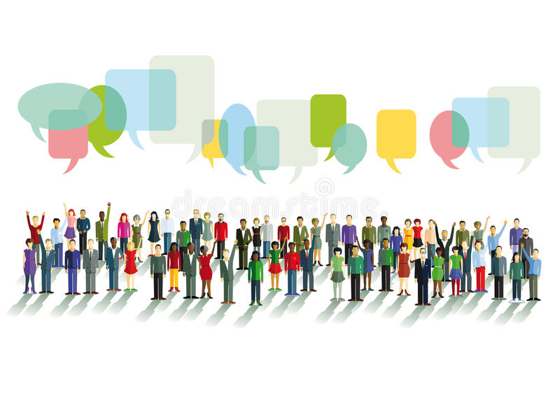 Diversity in communication stock illustration