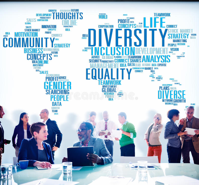 Diversity Community Meeting Business People Concept.  stock image
