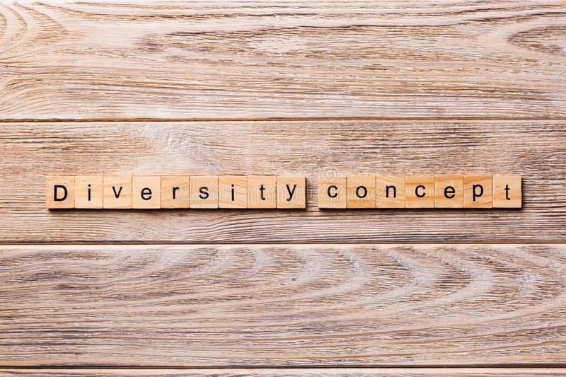 Diversity concept word written on wood block. Diversity concept text on wooden table for your desing.  royalty free stock images