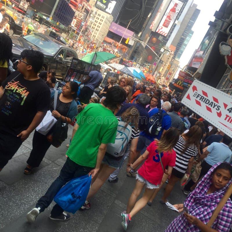 Diversity, Crowded NYC Street stock photos