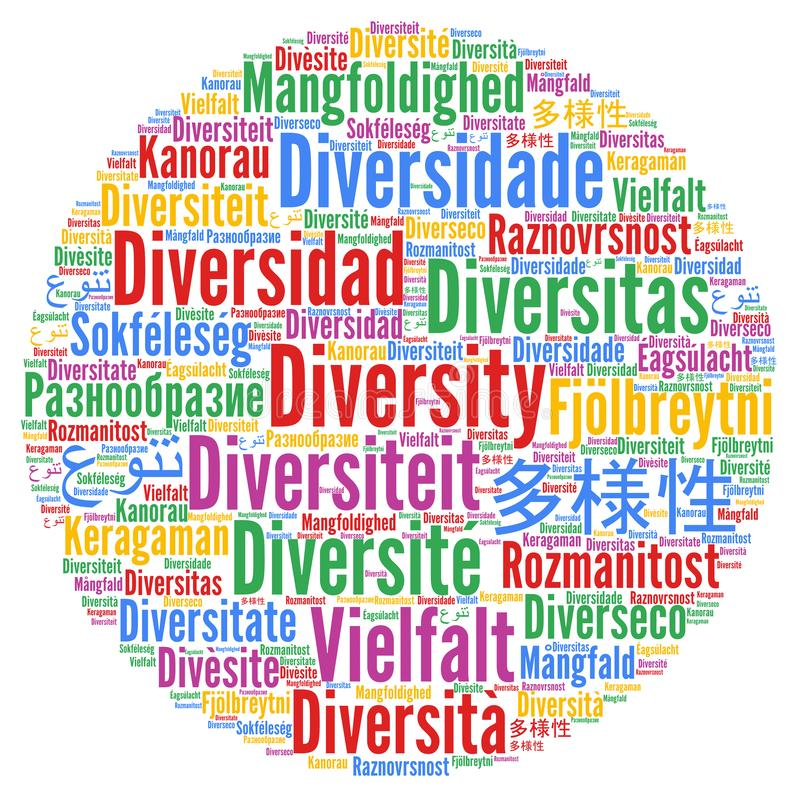 Diversity in different languages royalty free illustration