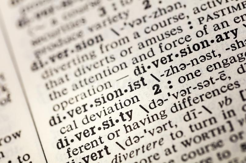 Diversity diverse racial difference dictionary. Definition gender book stock images
