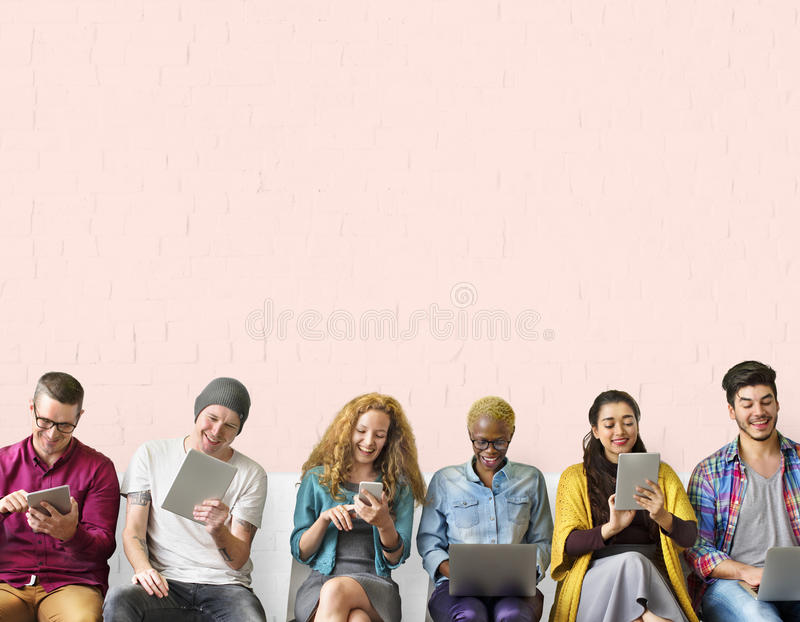 Diversity Friends Connection Global Communication Concept.  stock photography