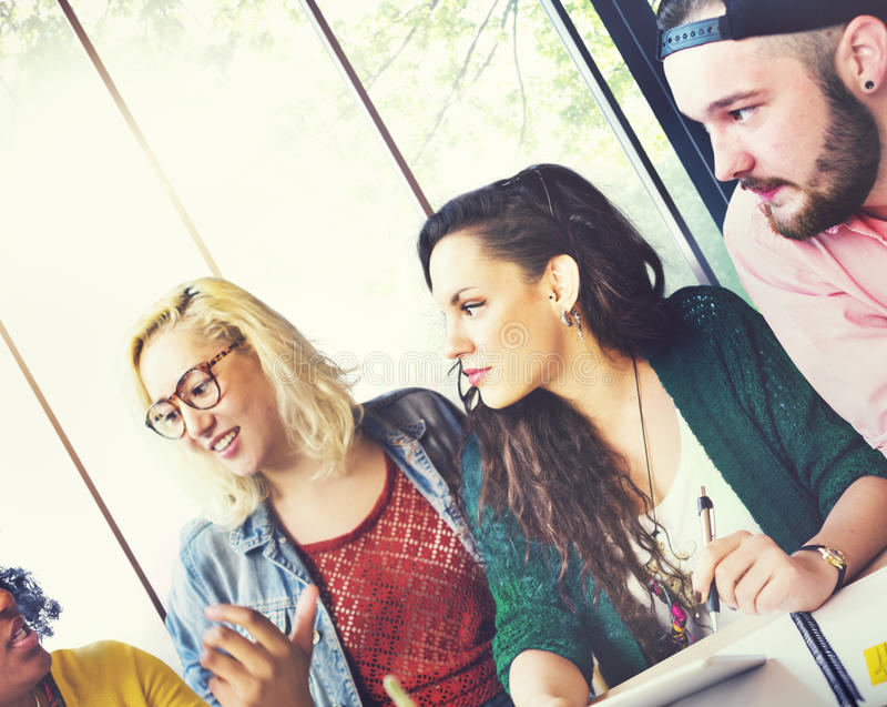 Diversity Friends Team Brainstorming Community Concept.  royalty free stock photography