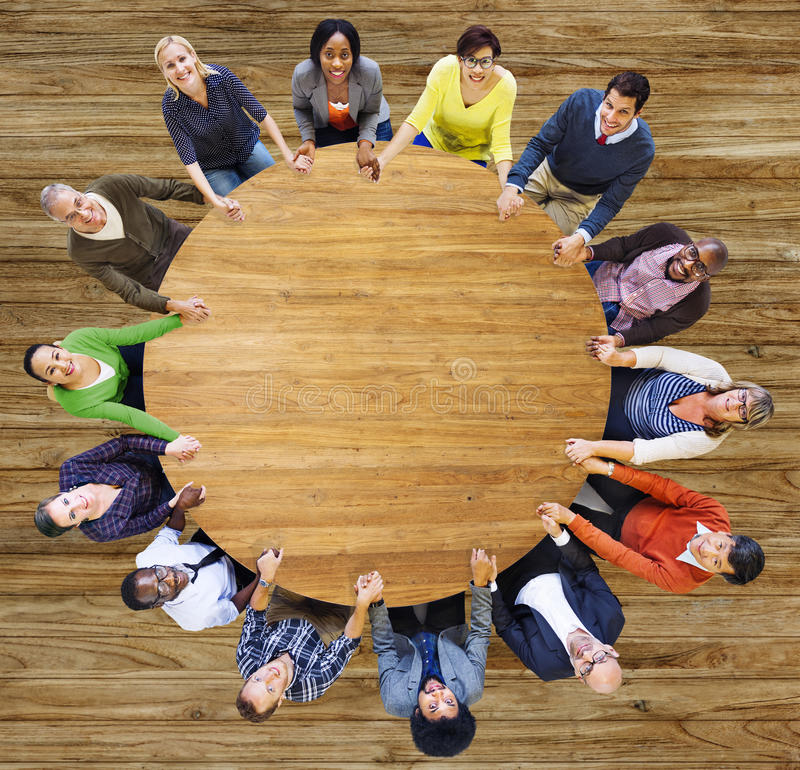 Diversity Group of Business People Teamwork Support Concept.  royalty free stock image