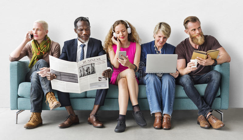 Diversity Group of People Lifestyle Communication Concept royalty free stock photography