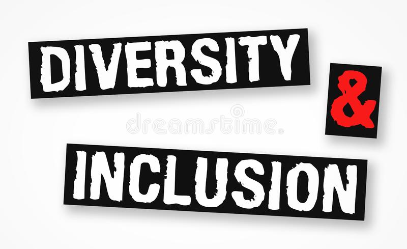 Diversity and Inclusion. Business concept vector illustration