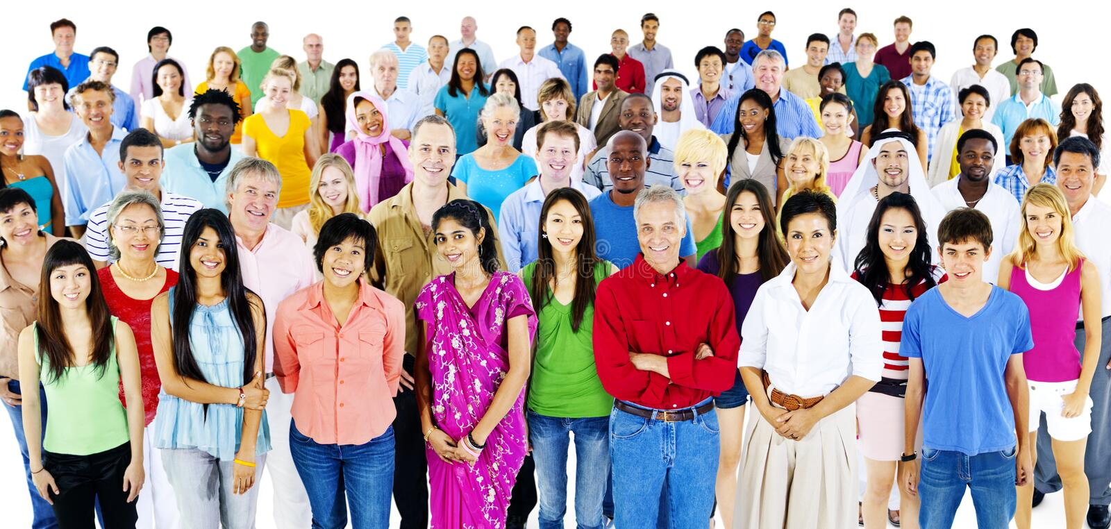 Diversity Large Group of People Multiethnic Concept stock images