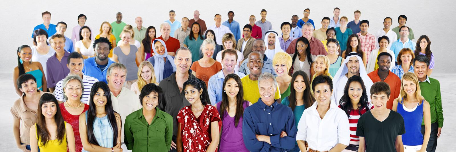 Diversity Large Group of People Multiethnic Concept stock photo