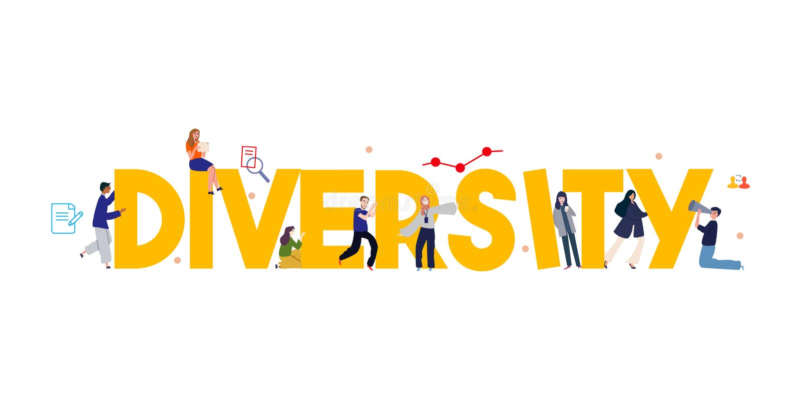 Diversity multicultural community solidarity concept international world or company. Working together as team. Vector illustration vector illustration