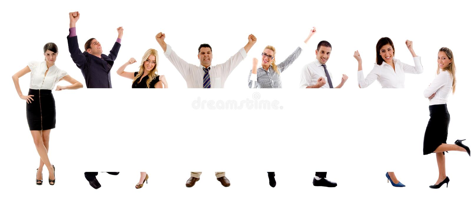 Download People with banner stock image. Image of hispanic, look - 8564033