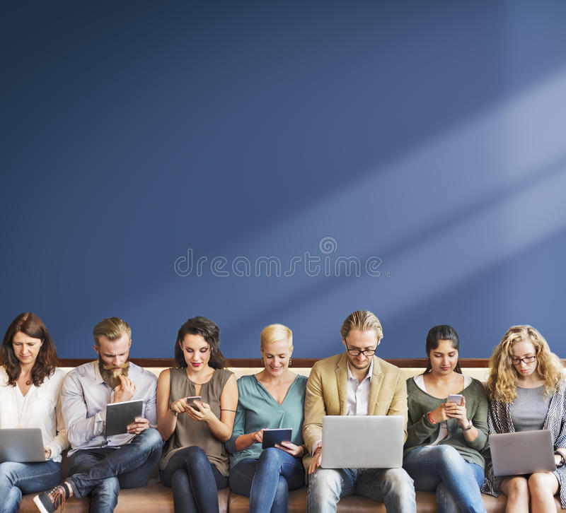 Diversity People Connection Digital Devices Browsing Concept royalty free stock photo