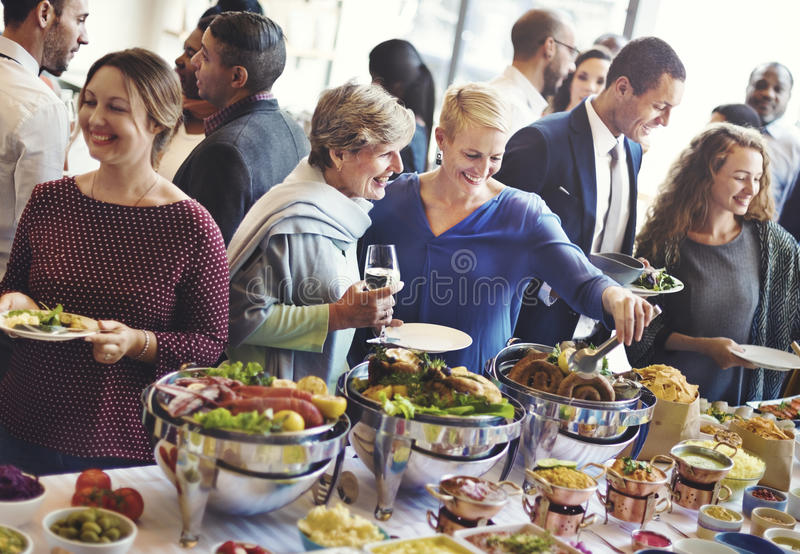 Diversity People Enjoy Buffet Party Concept royalty free stock photo