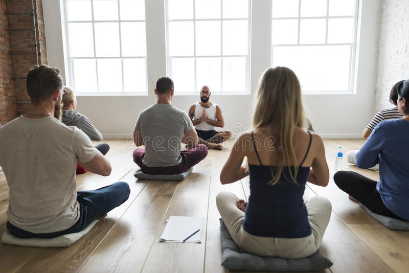 Diversity People Exercise Class Relax Concept royalty free stock photo