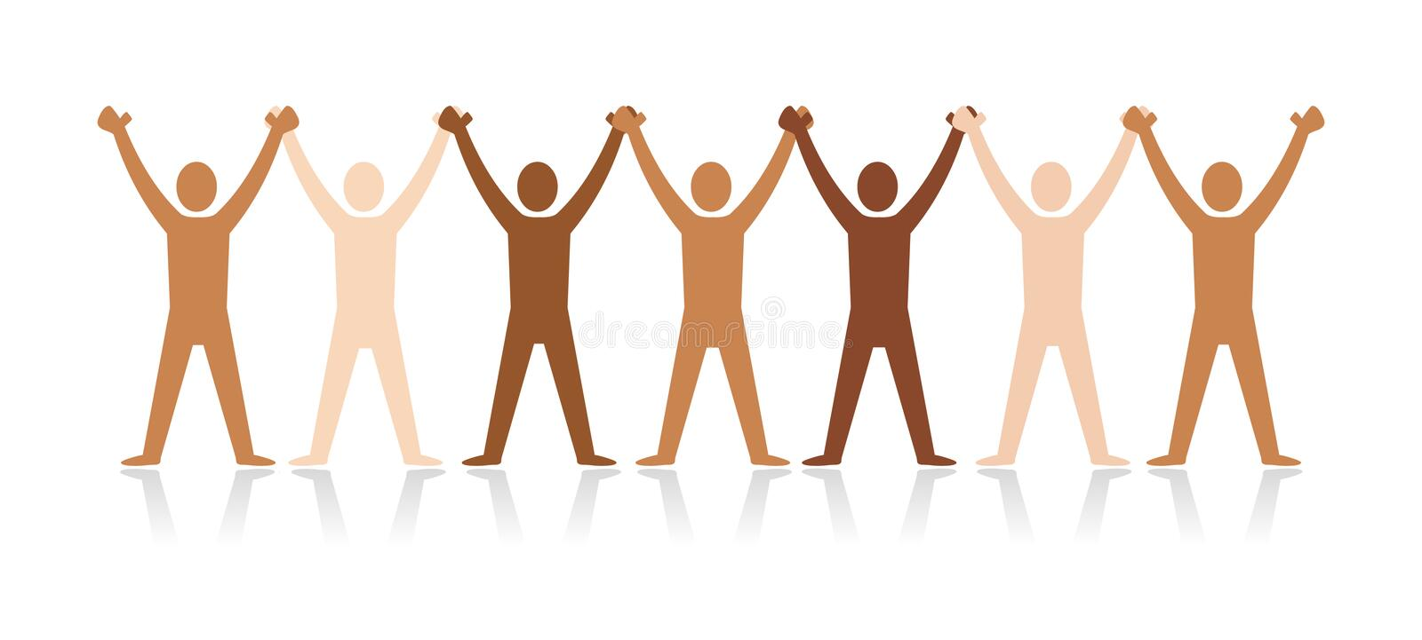 Diversity people stock illustration
