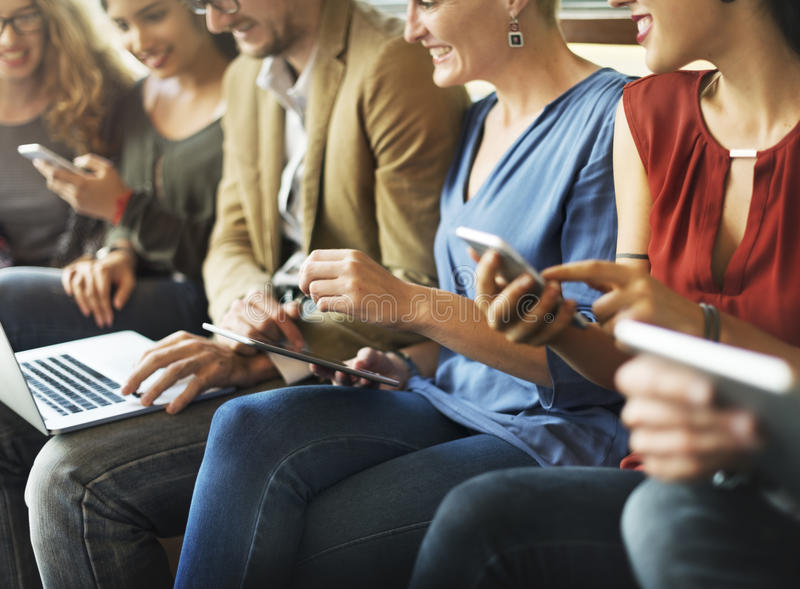 Diversity People Team Connection Technology Networking Concept.  stock image