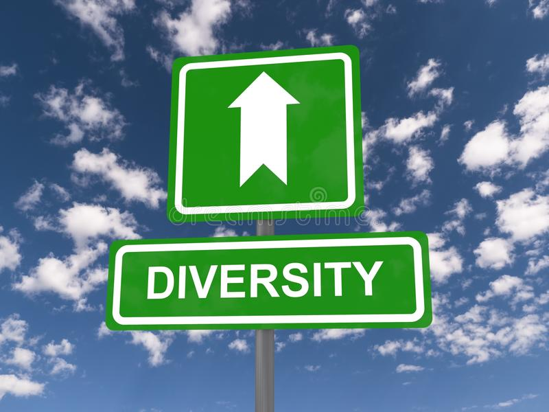 Diversity sign with arrow stock image