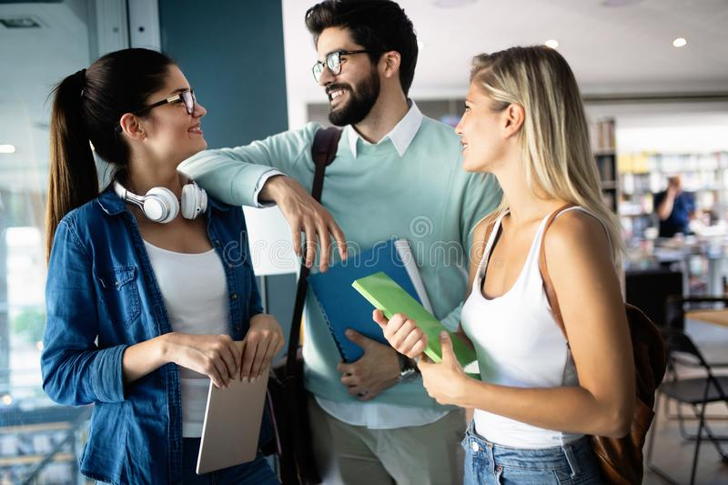 Diversity Students Friends Happiness Teamwork Ideas Concept royalty free stock image