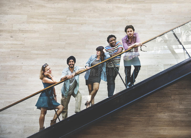 Diversity Teenager Friends Youth Culture Concept.  royalty free stock photos