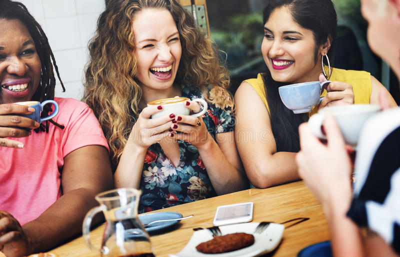 Diversity Women Socialize Unity Together Concept. Diversity Women Socialize Unity Together stock photography
