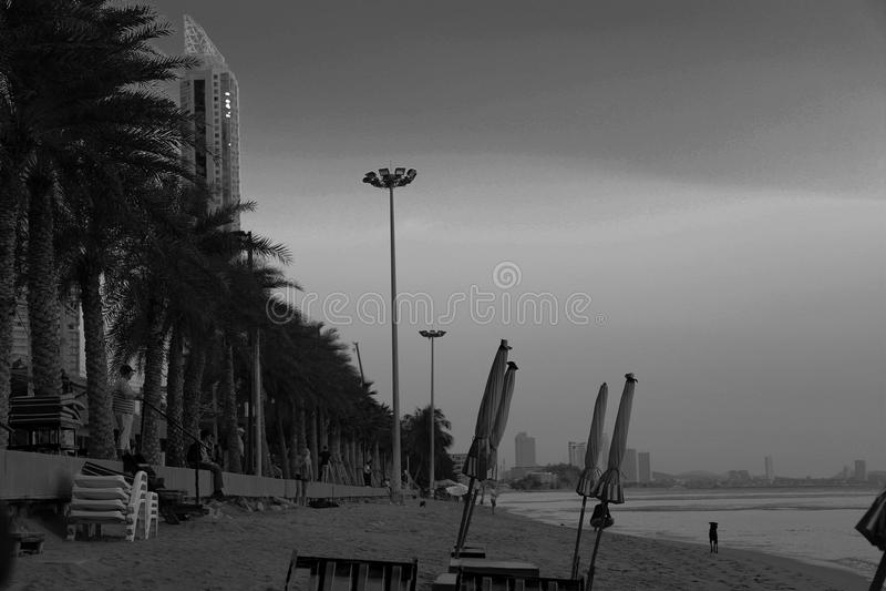 Diverso ángulo de la playa imagenes de archivo