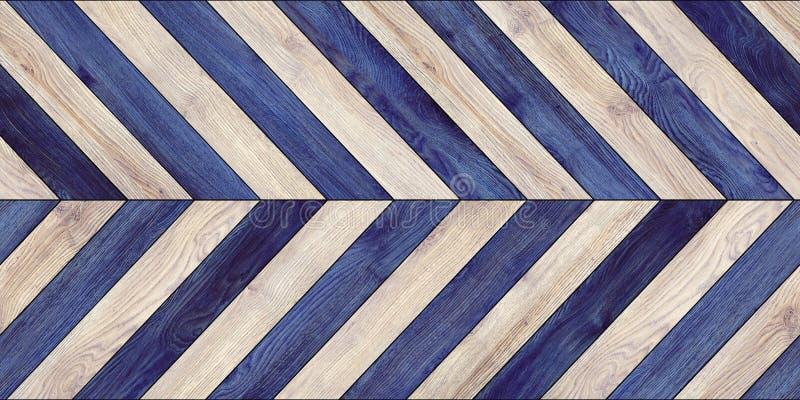 Diverso azul del entarimado del galón horizontal de madera inconsútil de la textura imagen de archivo