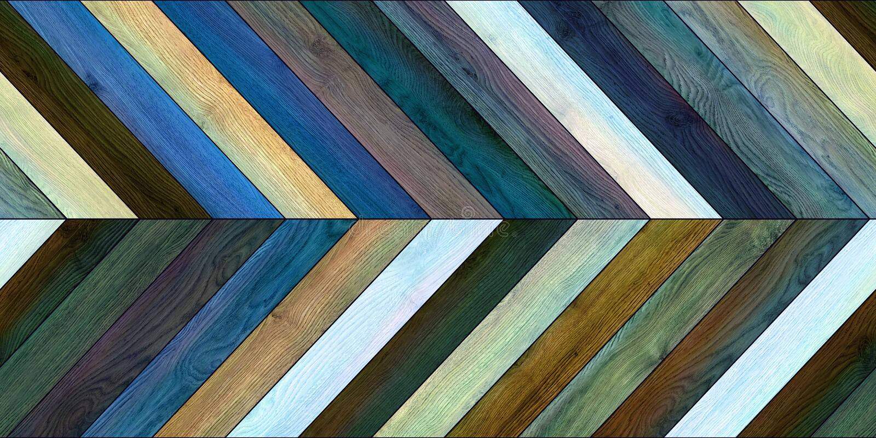 Diverso azul del entarimado del galón horizontal de madera inconsútil de la textura imagenes de archivo