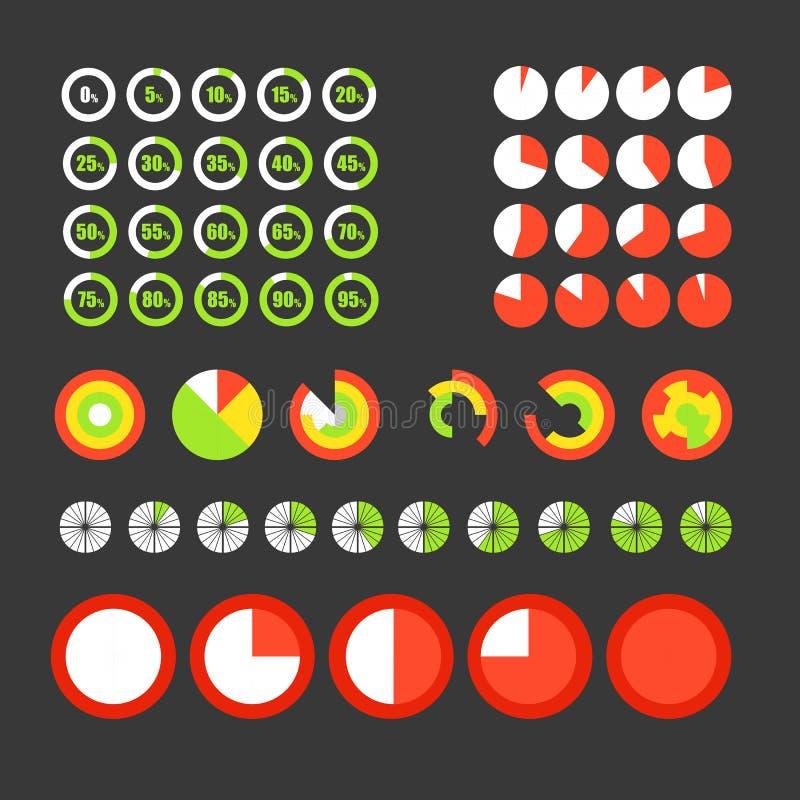 Diverso círculo traza la colección stock de ilustración